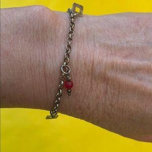 New vintage sterling silver bracelet with agate
